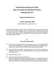 Unternehmenssatzung 2006 09 28.pdf - Stadt Herne