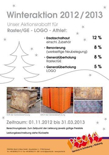 Winteraktion 2012 / 2013 - Paschal