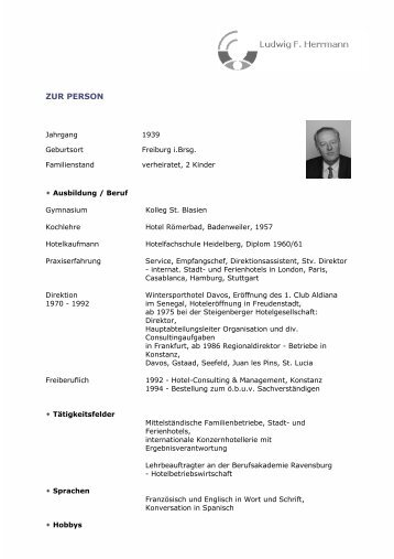 ZUR PERSON - Ludwig F. Herrmann