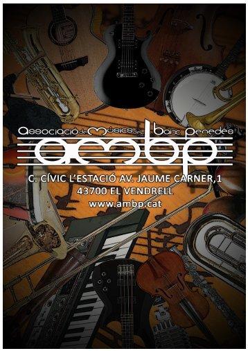 Guia d'associats 2011 - Associació de Músics del Baix Penedès