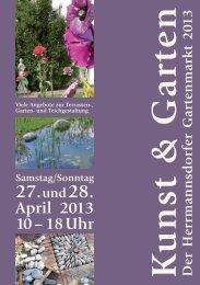 """Gartenmarkt """"Kunst & Garten"""" Programm"""