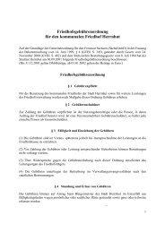 Friedhofsgebührenordnung für den kommunalen Friedhof Herrnhut