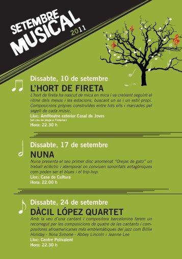 Programació del Setembre Musical 2011.pdf - Ajuntament d'Abrera
