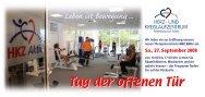 Flyer Tag der offenen Tür - Herz- und Kreislaufzentrum Rotenburg