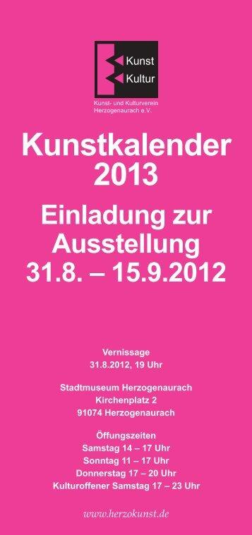 Einladung zur Ausstellung - Kunst- und Kulturverein ...