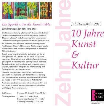 Flyer zum Programm - Kunst- und Kulturverein Herzogenaurach eV