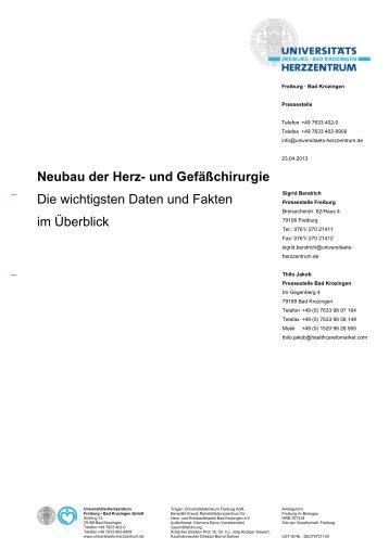 Daten und Fakten_Finale Fassung - Herz-Zentrum Bad Krozingen