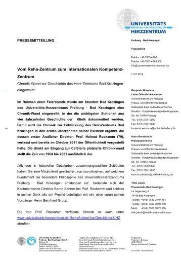 Pressemitteilung - Herz-Zentrum Bad Krozingen