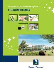 Immobilienspezifische Dienstleistungen für Pflegeeinrichtungen