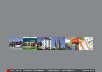 PDF download [ 2,4 MB ] - HESS - VOLK Architekten