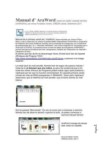 P à g in a Manual d' AraWord traduït al català i adaptat del bloc d ...