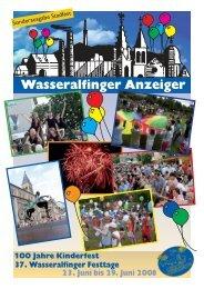 Wasseralfinger Anzeiger - Sonderausgabe zu ... - Stadt Aalen