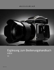 Hasselblad H3D2 Anleitung Deutsch Ergänzung