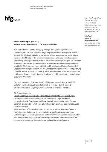 Pm engelstrompete hochschule f r gestaltung for Hochschule gestaltung offenbach