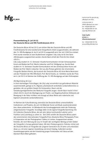Teilnehmerliste festival junger talente hochschule f r for Hochschule gestaltung offenbach