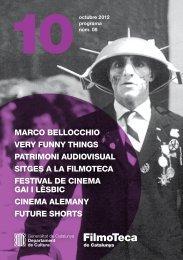 Programa 8 - Octubre 2012 - Filmoteca de Catalunya