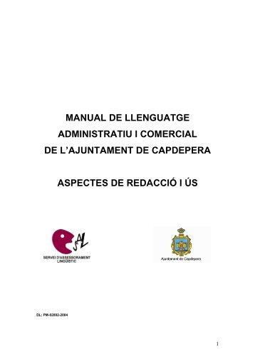 Manual de llenguatge administratiu i comercial de l - Servei d ...