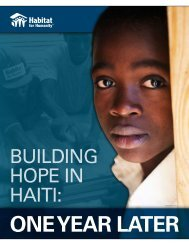 BUILDING HOPE IN HAITI: - Habitat for Humanity Deutschland