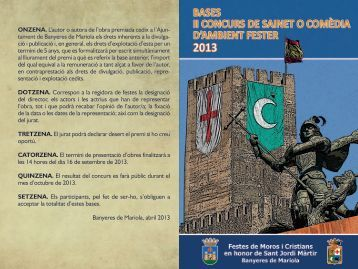 Bases-Sainet-2013 - Ayuntamiento Banyeres de Mariola