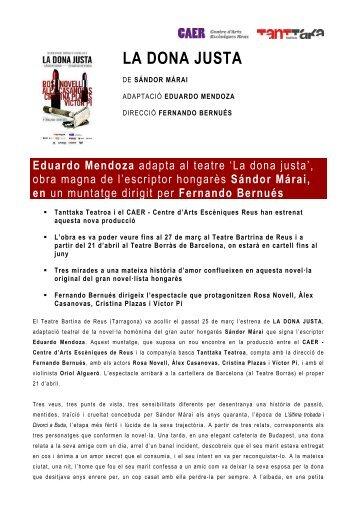 Nota de premsa (CATALÀ) - Comedia Comunicació & Mèdia