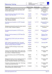 References Training - HGW Ingenieurgesellschaft mbH