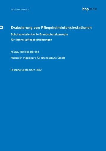 Evakuierung von Pflegeheimintensivstationen - hhpBerlin