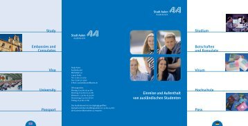 Entry and residency for foreign students - Hochschule Aalen