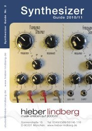 Synthesizer Guide 2011 - Musikhaus Hieber Lindberg