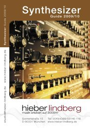 Synthesizer Guide 2010 - Musikhaus Hieber Lindberg
