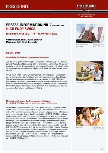 [PDF] Pressemitteilung - High End Society