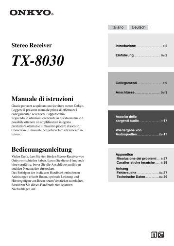 Bedienungsanleitung (IT,DE) - HIFI-REGLER