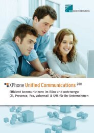 XPhone Unified Communications 2011 - C4B | Com For Business AG