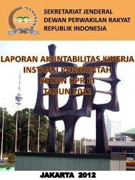 SEKRETARIAT JENDERAL DEWAN PERWAKILAN RAKYAT REPUBLIK INDONESIA