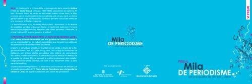 VI Premi Mila - Ajuntament de Lleida