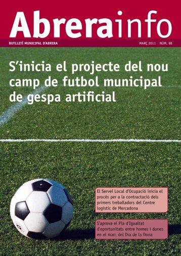 S'inicia el projecte del nou camp de futbol municipal de gespa artificial