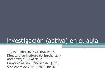 Investigación - Instituto de Enseñanza y Aprendizaje