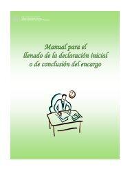 Manual para el llenado de la declaración inicial o de conclusión del ...