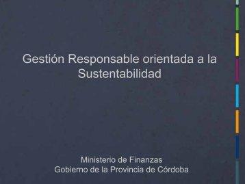Presentación Reporte de Sustentabilidad - Gobierno de la Provincia ...