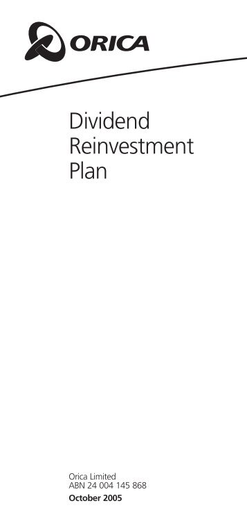 Download Dividend Reinvestment Plan information booklet ... - Orica