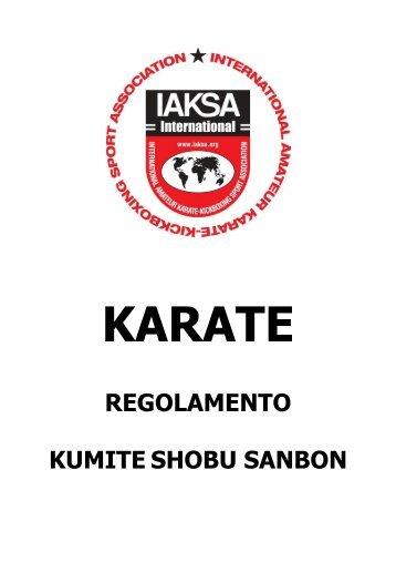 IAKSA Regolamento Kumite Shobu Sanbon