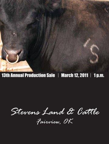 Stevens Land & Cattle - Angus Journal