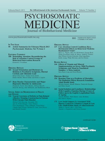 TOC (PDF) - Psychosomatic Medicine