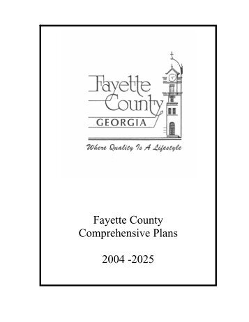 Fayette County Comprehensive Plans 2004 -2025