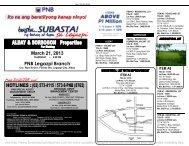 PNB Foreclosed Properties Subasta Legaspi