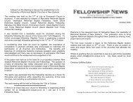 October 2002 - New Zealand Reformed Baptist Churches