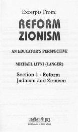 Reform Judaism and Zionism as Jewish ... - Dr. Michael Livni