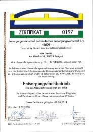 l ZERTIFIKAT N 0197 u - HIM GmbH