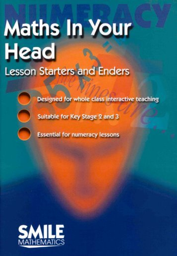 Numeracy: maths in your head - lesson starters and enders