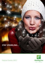 View our Festive Events 2012 brochure here - Holiday Inn