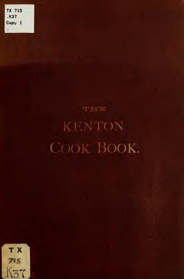 The Kenton cook-book - Blog by Survival-Goods.com
